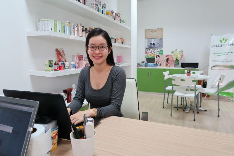 chị Phương Huỳnh - Giám đốc Công ty TNHH  Mỹ phẩm Vellsheena Việt Nam
